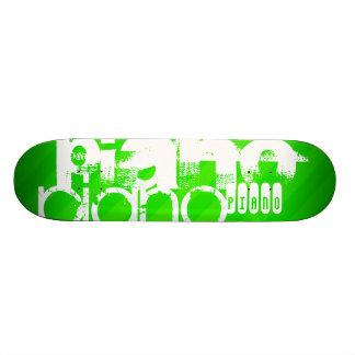 Piano; Neon Green Stripes. Skate Board Decks