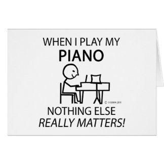 Piano Nothing Else Matters Greeting Card