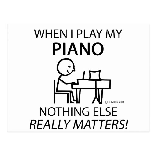 Piano Nothing Else Matters Postcards