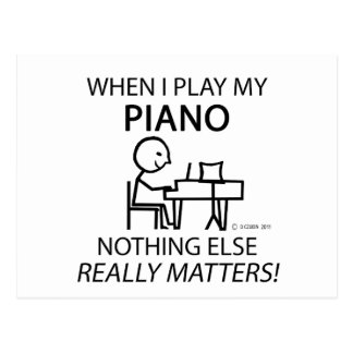 Piano Nothing Else Matters Postcard