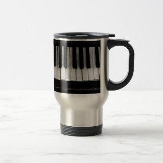Piano Old Grand Piano Keyboard Instrument Music Travel Mug