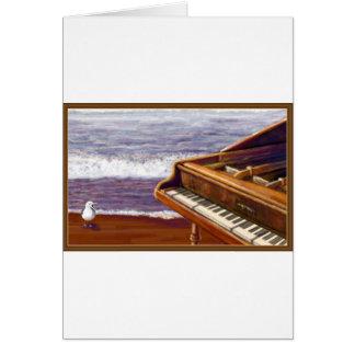 Piano on a Beach Card