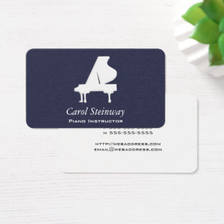 Piano on Midnight Business Card