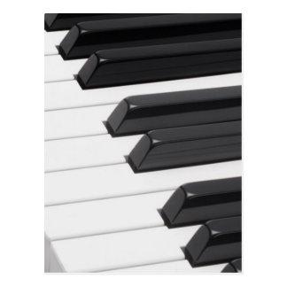 Piano or Organ Keyboard Keys Postcard