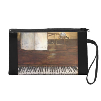 Piano Painting Wristlet Clutches