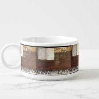 Piano Painting Chili Bowl by Willowcatdesigns