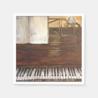 Piano Painting Paper Napkins by Willowcatdesigns
