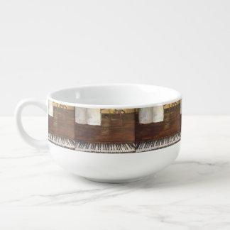 Piano Painting Soup Mug by Willowcatdesigns