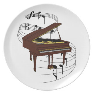 Piano Party Plate