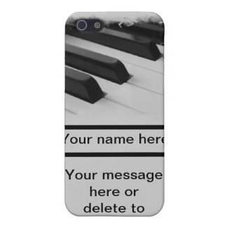 piano pianist musician key customize your own name cover for iPhone 5/5S