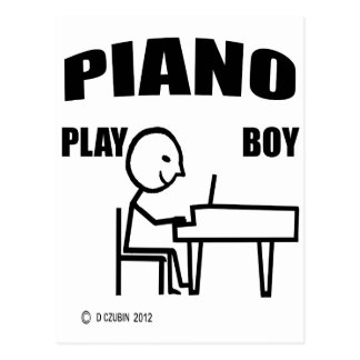 Piano Play Boy Postcard