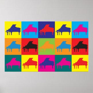 Piano Pop Art Poster