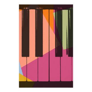 Piano Pop Art Stationery Design