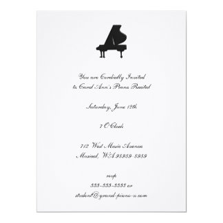 Piano Recital Card