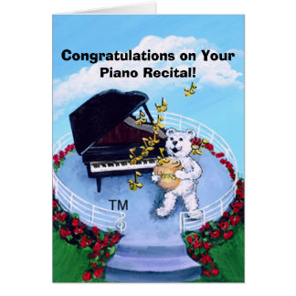 Piano Recital Card for Piano Students - Customized