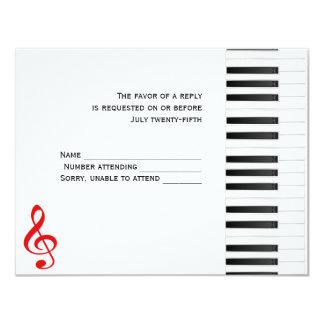 Piano Response Card