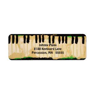 Piano return address labels