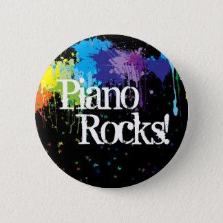 Piano, Rocks! 2 Inch Round Button