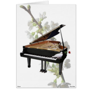 Piano -Romantic Music- Card