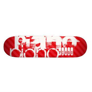 Piano; Scarlet Red Stripes Skate Board