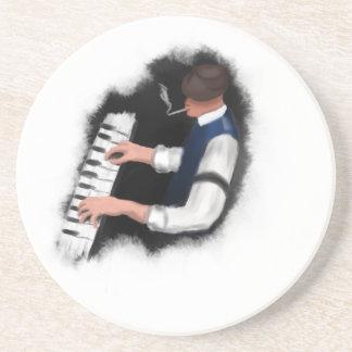Piano Singer Beverage Coasters