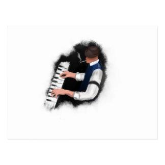 Piano Singer Postcard