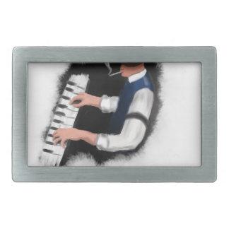Piano Singer Rectangular Belt Buckles