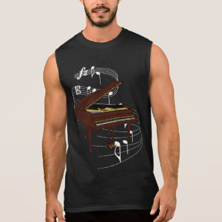 Piano Sleeveless Shirt