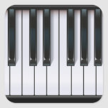 Piano Square Sticker