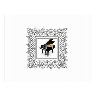 piano squared postcard