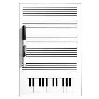 Piano & Staff Dry Erase Board