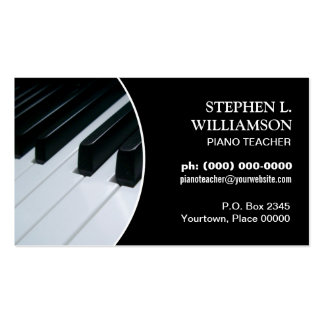Piano Teacher Frame Pack Of Standard Business Cards