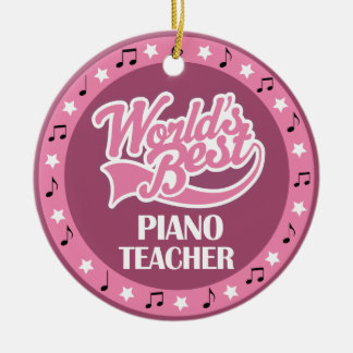 Piano Teacher Gift For Her Round Ceramic Ornament
