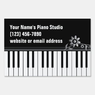 Piano Teacher Keyboard Yard Sign