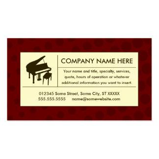 piano tramé cartes de visite personnelles