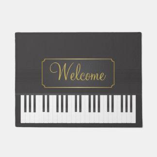 Piano welcome doormat