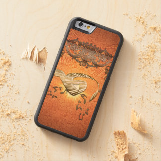 Piano with kay notes on decorative background carved maple iPhone 6 bumper case