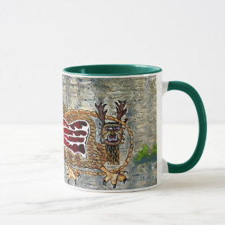 Piasa Bird Oil Landscape Painting Mug