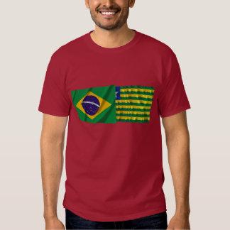 Piauí & Brazil Waving Flags Shirt