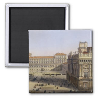 Piazza Castello, Turin, engraved by F. Citterio (c Magnet