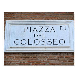 Piazza del Colosseo - carte postale de Roma,