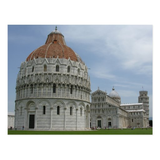 Piazza del Duomo in Pisa, Tuscany, Italy Post Cards