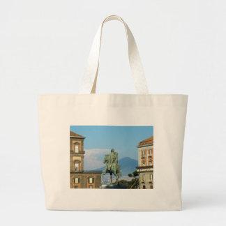 Piazza del Plebiscito, Naples Large Tote Bag