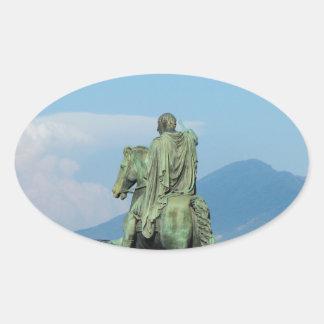 Piazza del Plebiscito, Naples Oval Sticker