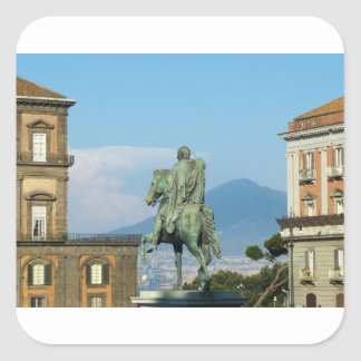 Piazza del Plebiscito, Naples Square Sticker