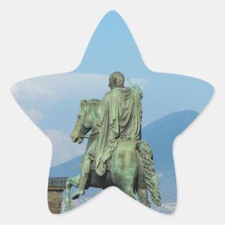 Piazza del Plebiscito, Naples Star Sticker