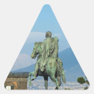 Piazza del Plebiscito, Naples Triangle Sticker