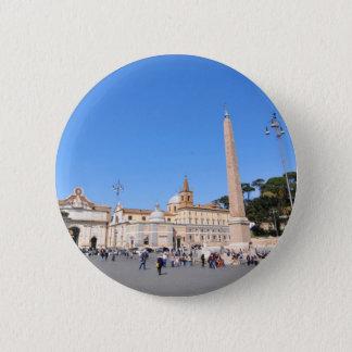 Piazza del Popolo, Rome, Italy 2 Inch Round Button