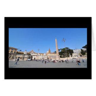 Piazza del Popolo, Rome, Italy Card