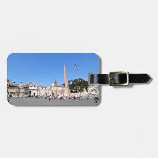 Piazza del Popolo, Rome, Italy Luggage Tag